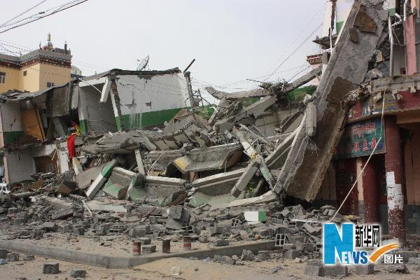 A strong earthquake rocked northwestern China on Wednesday, killing about 300 people and injuring another 8,000 as it toppled houses in a remote mountainous area, the government said.