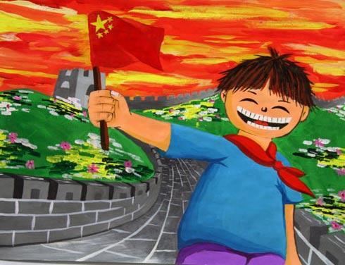 我爱祖国儿童画