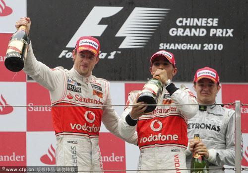 McLaren finished one-two in the 2010 Formula One Chinese Grand Prix in Shanghai on Sunday.
