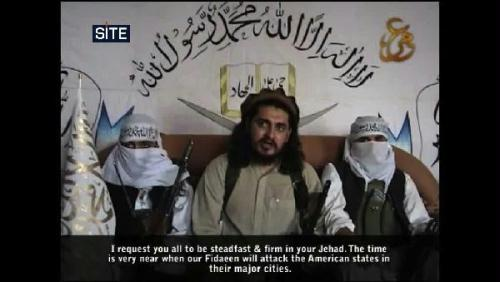 SITE Intelligence Group-issued screengrab shows Pakistan Taliban chief Hakimullah Mehsud in a new video promising attacks on the USA. Mehsud was reported to have been killed in a US drone strike in northwestern Pakistan on January 14, but Pakistani intelligence officials were quoted as saying last week that he had survived the attack.(Xinhua/AFP Photo)