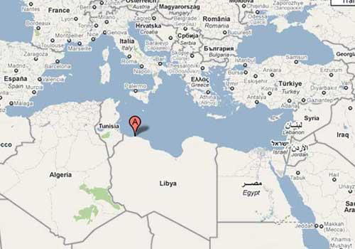 PhotoshowsthelocationofTripoli,capitalofLibya.Atotalof105peopleincluding94passengersand11crewswerekilledinanaircrashonWednesdayatTripoliairport,Al-Jazeeratelevisionreported.(Photo:GoogleMaps)