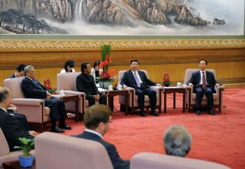 ChineseVicePresidentXiJinpingmeetswiththedelegatesofthePovertyAlleviationConferenceoftheInternationalConferenceofAsianPoliticalPartiesinBeijing,capitalofChina,July,19,2010.(Xinhua/LiTao)