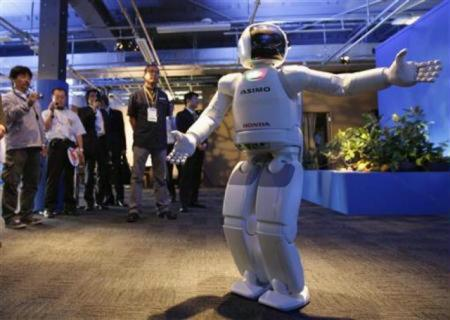 Intelligent humanoid robot ASIMO of Japan's Honda Motor Co.