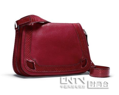 marcello de cartier saddle 皮包(樱桃红色)