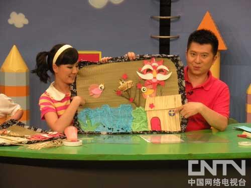 海绵纸做儿童时装秀