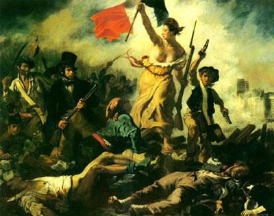 ...导着人民》是法国画家德拉克罗瓦最具有浪漫主义色彩的作品