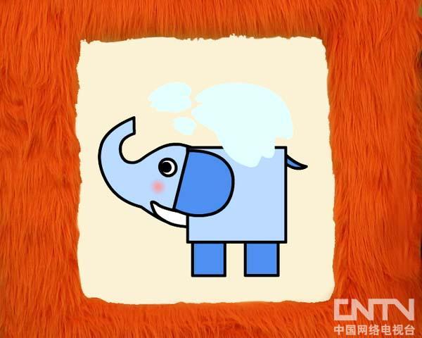 大象爸爸简笔画