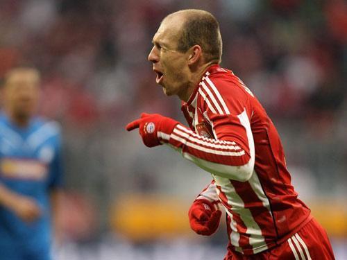 德甲-戈麦斯穆勒破门罗本两球 拜仁4-0霍芬海姆