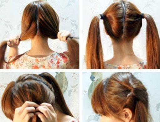 儿童头发编法图解