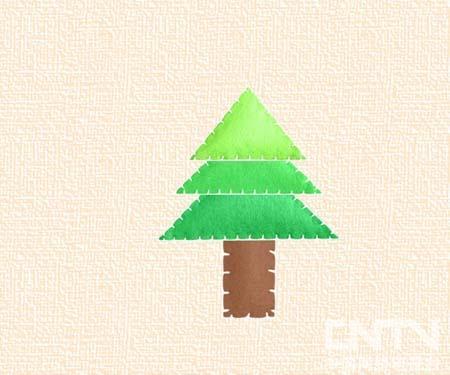 儿童松树简笔画图片
