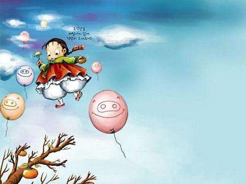 韩国手绘会说话的气泡