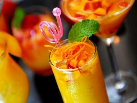 芒果柳丁苹果汁