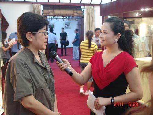 副会长王宛平接受采访