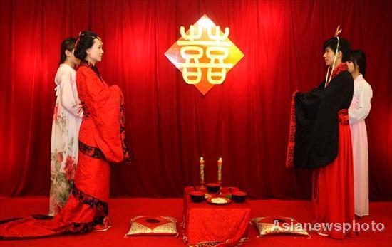 Ancient Wedding Ceremony A Modern Hit CCTV News