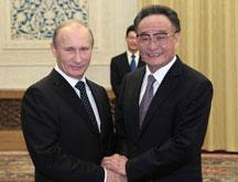 Wu Bangguo rencontre le PM russe