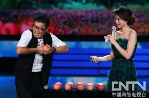 庞龙掰苹果比赛
