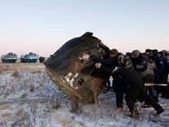 "Экипаж корабля ""Союз ТМА-02М"" совершил посадку в Казахстане"