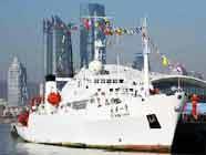 """Китайское научно-экспедиционное судно """"Даян-1"""" после 22-й экспедиции вернулось в порт Циндао"""