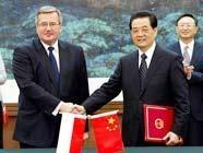 Ху Цзиньтао провел переговоры с президентом Польши