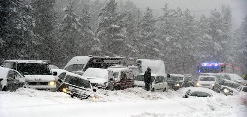 严寒袭击欧洲,部分地区出现历史最低气温,在欧洲东部,公路、航空、铁路交通因大雪受阻。