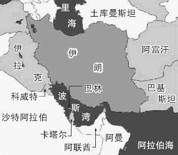 波斯湾地区地图