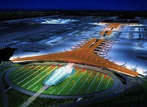 北京首都国际机场全景图(资料图)