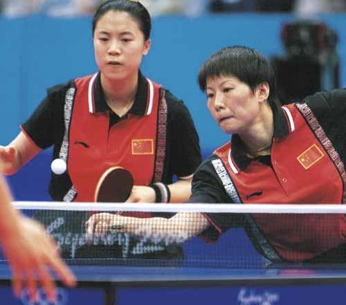 中国奥运金牌录 第65金 王楠 李菊 2000年 乒乓球
