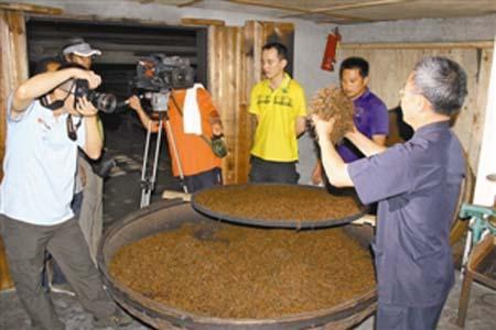 武夷山拍摄制茶