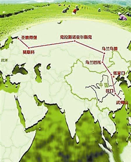 茶叶之路路线图