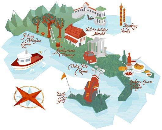 英国插画师kerry hyndman绘制的地图