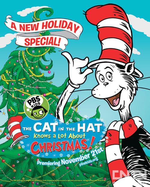 """pbs儿童频道播出""""戴帽子的猫""""圣诞节特别版"""
