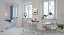 瑞典简约的纯白公寓