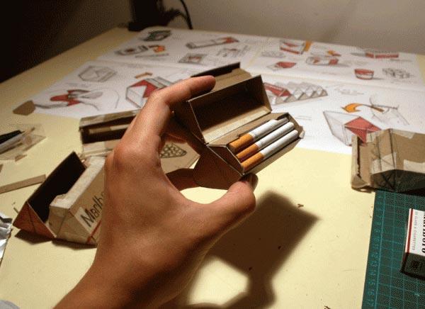 烟盒平面展开图