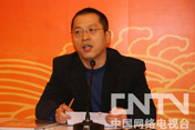 中央电视台新闻中心副主任<br>梁健增先生与记者交流