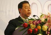 中国中央电视台副台长罗明<BR>在开幕式上致辞