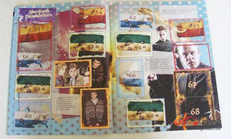 《哈利波特与死亡圣器(下)》贴纸收藏册内页