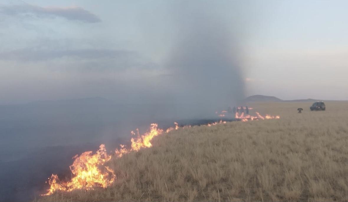 蒙古国草原大火已蔓延至中国境内 愿平安!