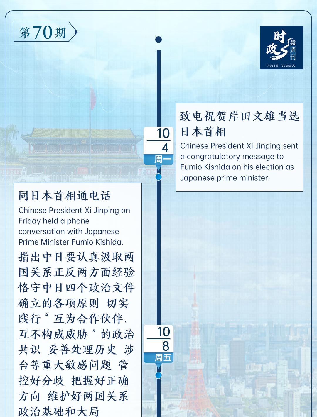 时政微周刊丨总书记的一周(10月4日—10月10日)