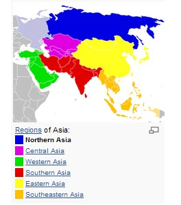 <em>North Asia or Northern Asia is a subregion of Asia. The most common definition of the term is; The Asian part of Russia, namely Asian Siberia; however, by some definitions, not all of Northern Asia is part of Siberia. This definition may also include Mongolia and is partly overlapping with the Asian steppe.  </em><a></a><br><center><font color=#cc0000>----------------------------------------------------------</font></center><br>