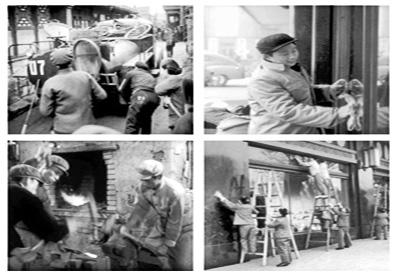 1958年-8号《积极参加义务劳动》<br>义务掏粪徐寅生擦玻璃炼铁打农具百货大楼前