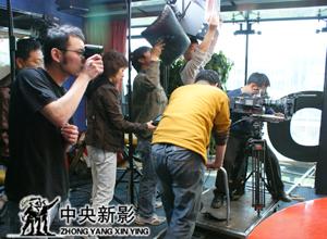 在北京人民广播电台拍摄