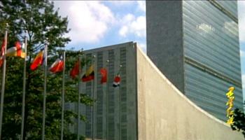 1971年五星红旗在联合国总部大楼前升起
