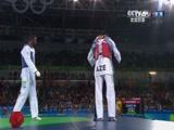 [夺金时刻]伊萨耶夫夺跆拳道80公斤以上级金牌