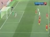 [国足]阿费夫一记巧妙挑传 莫埃兹头球扳平