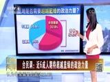 [海峡两岸]台民调:近6成人期待超越蓝绿的政治力量