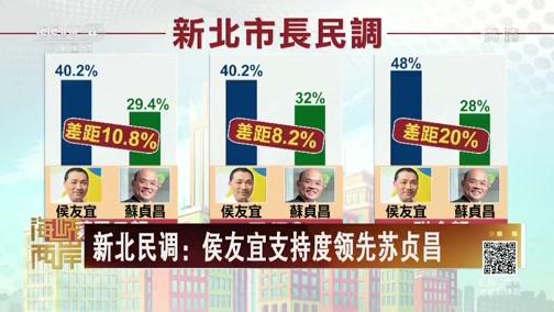 [海峡两岸]新北民调:侯友宜支持度领先苏贞昌