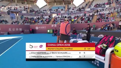 [中网]女双半决赛:梅尔滕斯/斯楚尔斯VS赫拉瓦科娃/斯特里科娃