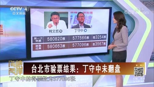 [海峡两岸]台北市验票结果:丁守中未翻盘
