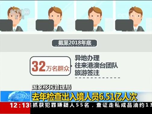 """[新闻30分]国家移民管理局 推进""""放管服""""改革成效明显"""