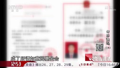 """《今日说法》 20190612 特殊""""会长""""(下)"""
